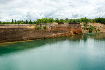 Large reservoirs and high mound in Thailand
