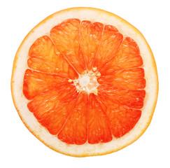 Slice of grapefruit isolated
