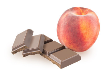 Peach and chocolate