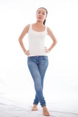 Frau in Jeans