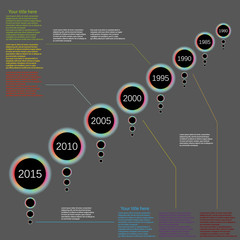 vector infographic timeline backgrund