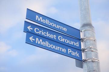Melbourne Street Sign