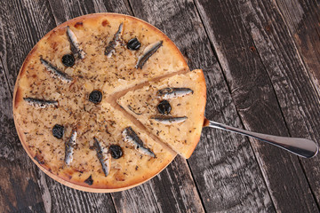 pizza with anchovy