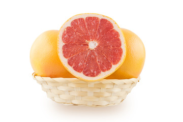 Grapefruit in the basket