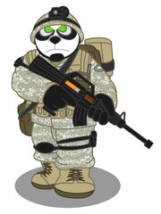 Panda Soldier style 2