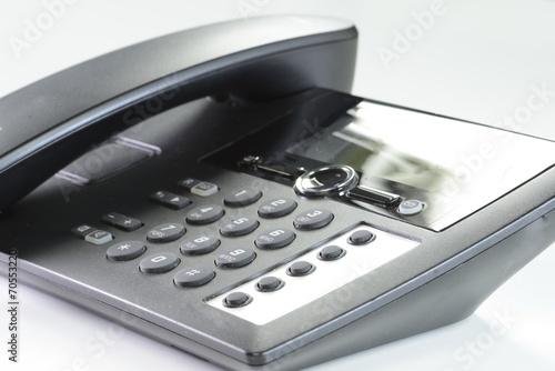 Leinwanddruck Bild Telefon im Büro