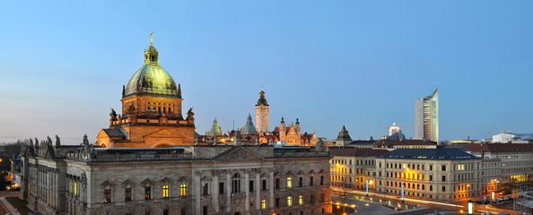 Panorama Skyline Leipzig City