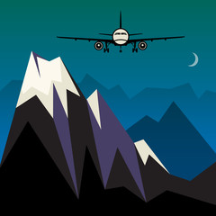 Travel or Air Cargo abstract, vector illustration