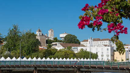 panoramic view of the city Tavira in Algarve, Portugal, Europe