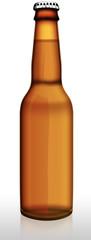 Bier, Bierflasche braun, freigestellt