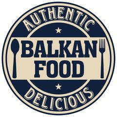 balkan food label