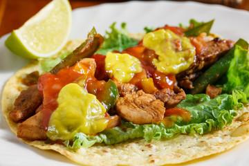 chicken fajita tortillas - dish of mexico