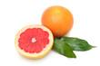 Grapefruit and orange isolated on white