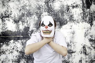 Clown strangling
