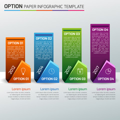 One,two,three,four - option business infographic, light