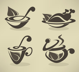 cooking equipment and food symbols