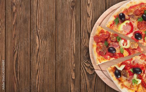Deurstickers Koekjes italian pizza