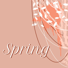 vector lace delicate background for spring