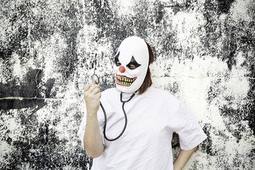 Stethoscope with clown