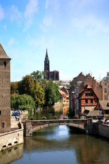 Ponts Couverts in Strasbourg, France, Alsace