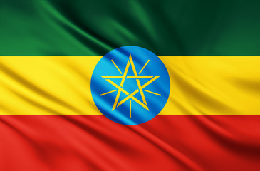 The National Flag of the Ethiopia