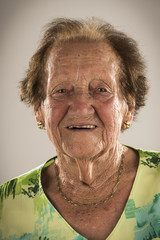Eighty eight years old senior woman