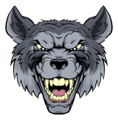 Mean Wolf Mascot