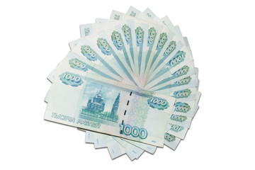 Thousand rubles banknotes