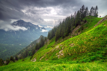 Mountain trail in Bavarian Alps, Germany