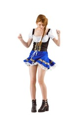 Oktoberfest girl moving and dancing