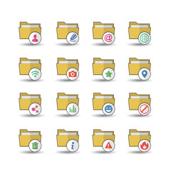 Flat color style Folder icons set 2