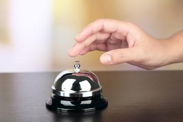Female hand ring bell