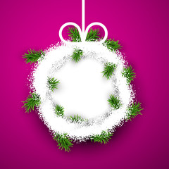 Paper christmas ball.