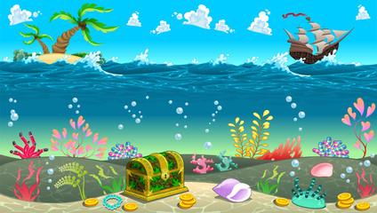 Funny scene under the sea.