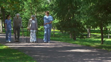 Patients with Walkers Accompanied by Caregivers