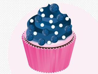 cupcake myrtille disco