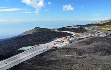 Sapienza Refuge on the volcano Etna