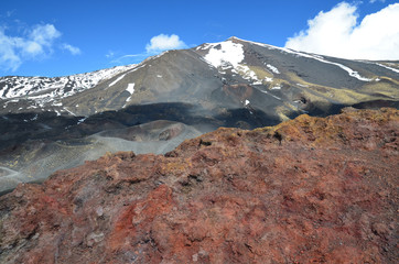 Volcanic rock on the mount Etna
