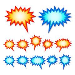starburst speech bubbles
