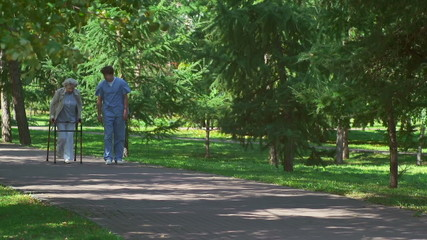 Beneficial Stroll for Senior Patient