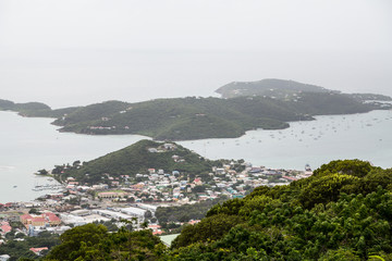 Coast of St Thomas from Hills