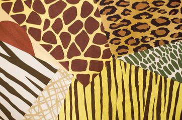 動物柄をした折り紙