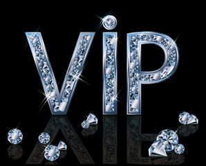 Diamond VIP invitation card, vector illustration