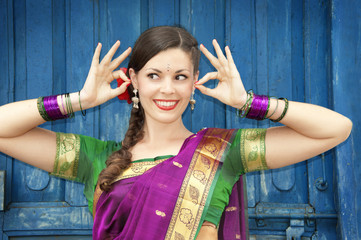 Beautiful woman in Indian traditional dress