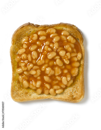 canvas print picture Toast and Beans