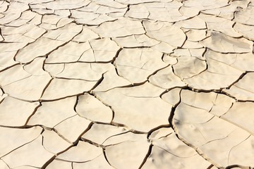 Cracked soil in Death Valley National Park