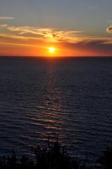 Sunrise over sea Lefkada