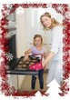 Woman baking cookies with daughter