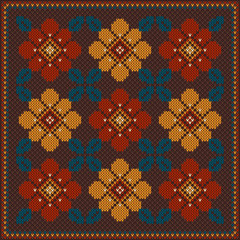 Vector illustration of Folk seamless pattern ornament. Ethnic or