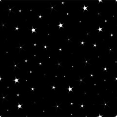 FLAT Seamless background with sparkling stars